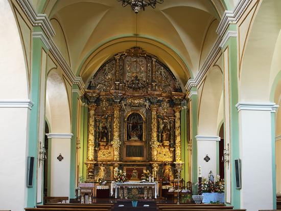 Iglesia de la Asunción. Bogarra.  Iglesia interior