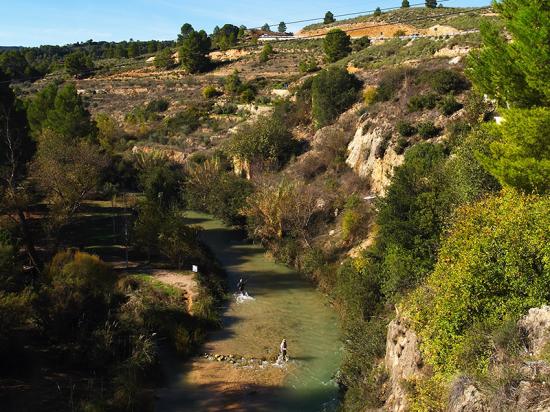 Paraje de Gallego. Elche de la Sierra. ZONA PESCA GALLEGO