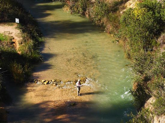 Paraje de Gallego. Elche de la Sierra. ZONA PESCA GALLEGO 2