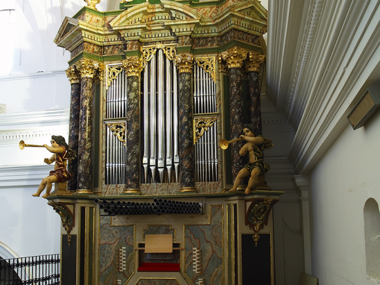 Iglesia Santa Quiteria. Elche de la Sierra.   Órgano barroco Iglesia Santa Quiteria