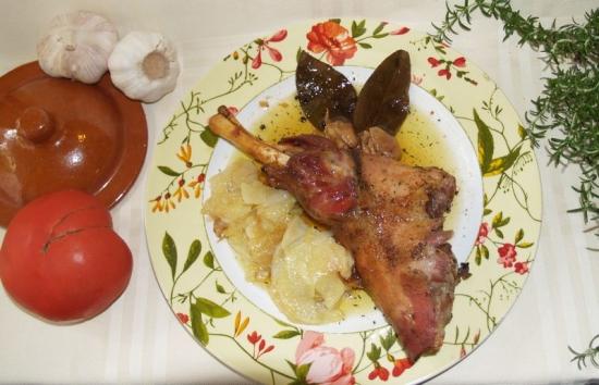 Restaurante La Artezuela asado de cordero