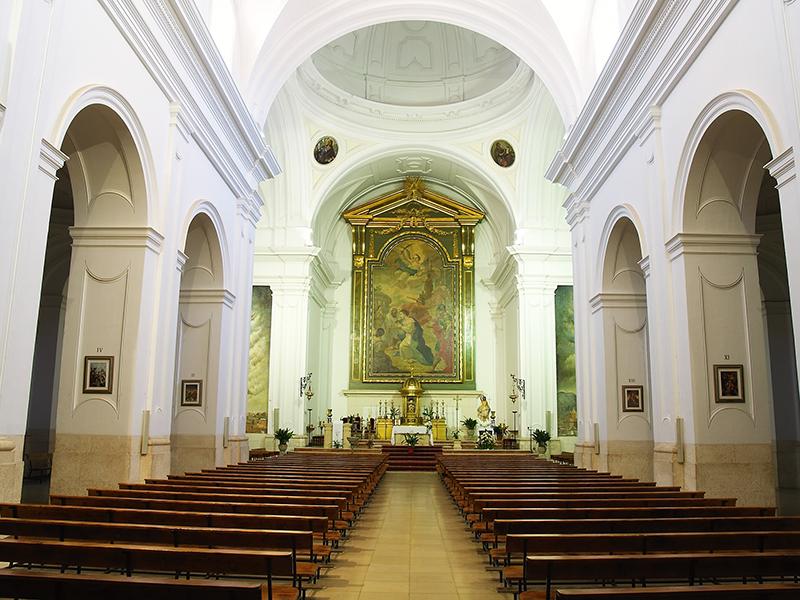 Iglesia Santa Quiteria. Elche de la Sierra.   Iglesia Santa Quiteria interior