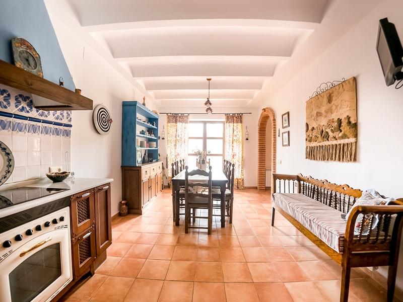 Casa Rural Riopar Green Cocina-comedor