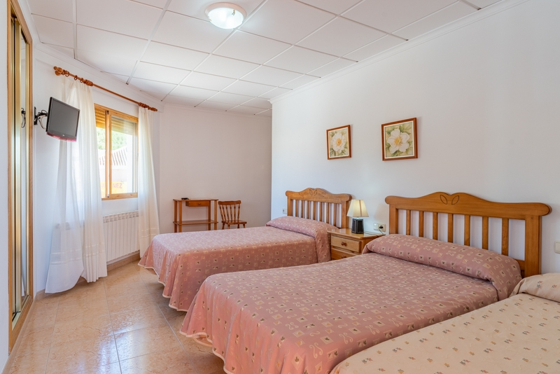 Hotel el Moreno habitación triple